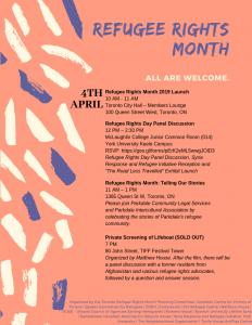 2019 Refugee Rights Month Calendar 1